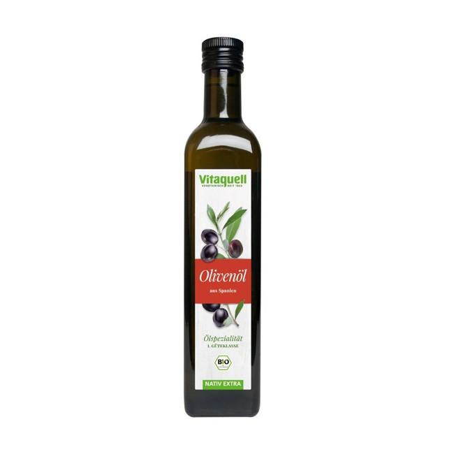 Vitaquell natives bio Olivenöl Spanien 500ml mild und fruchtig im Aroma