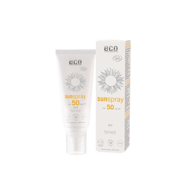 Eco Cosmetics: Sunspray LSF 50 getönt Q10 (100ml)
