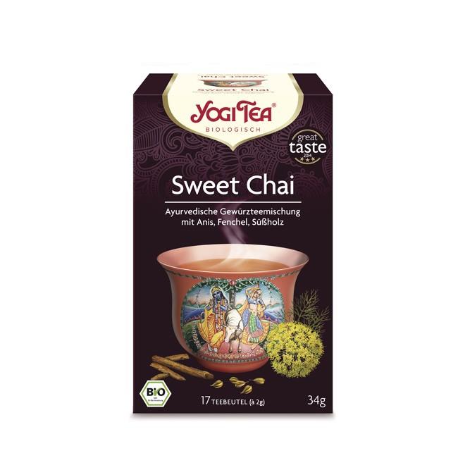 Yogi Tea Sweet Chai Tee ohne Gentechnik reine ayurvedische Gewürzmischung bio