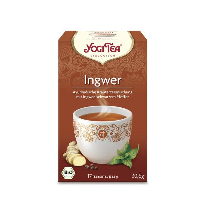 Zum durchwärmen Yogi Tea Bio Ingwer Tee