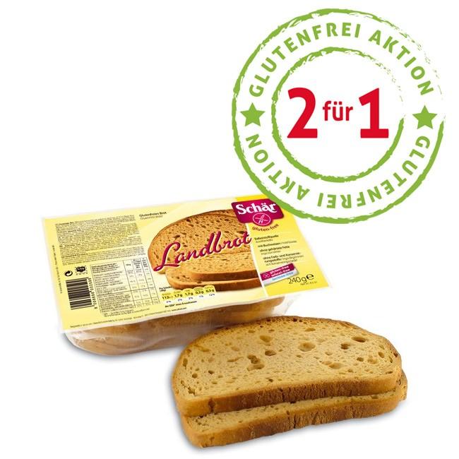 Aktion: 2 Brote erhalten und nur ein Brot bezahlen! Schär Landbrot Aktion bei Gesund-Sein