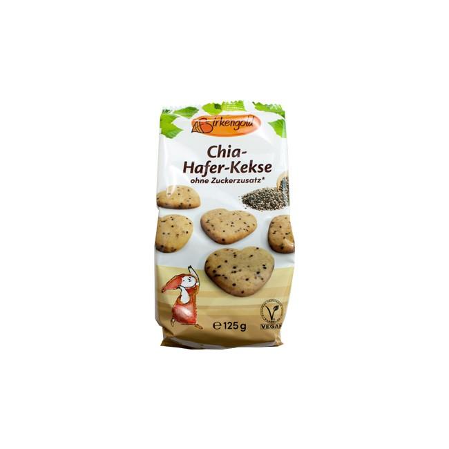 Birkengold: Chia Hafer Kekse - zuckerfreier Knabberspaß (125g)
