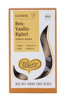 Werz: Reis-Vanille Kipferl, bio (125g)