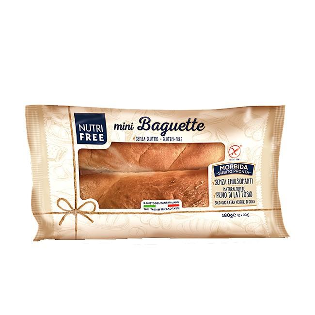 glutenfreie Baguette Brötchen von Nutrifree (180g) - 2 Stück (laktosefrei, ohne palmöl)