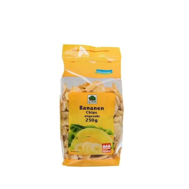 Lihn: Bananenchips, ungesüßt (250g)