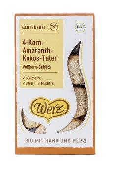 Werz : 4-Korn-Amaranth-Kokos-Taler, bio (125g)