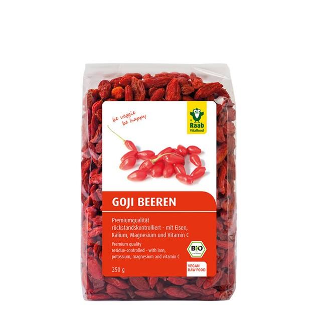 Goji Beeren von Raab Vitalfood (250g Beutel)