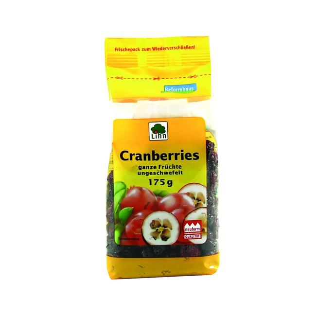 Lihn HOLO Cranberries ganze Früchte, leicht gesüßt 175g