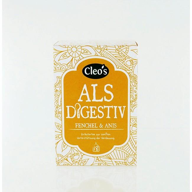 Cleo's als Digestiv Tee, bio (18 Beutel)