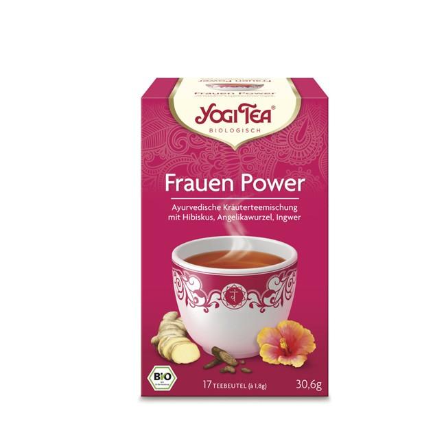 blumig frischer Hibiskus mit Kardamom und Angelikawurzel als Hommage an die Frau im Yogi Tea Frauen Power Tee bio 17 Beutel