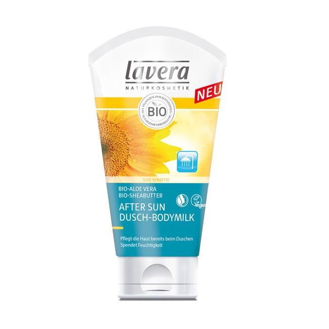 Lavera After Sun Sonnen Dusch Body Milk Lotion erfrischt sonnengereizte Haut mit Bio-Aloe Vera und Bio Sheabutter