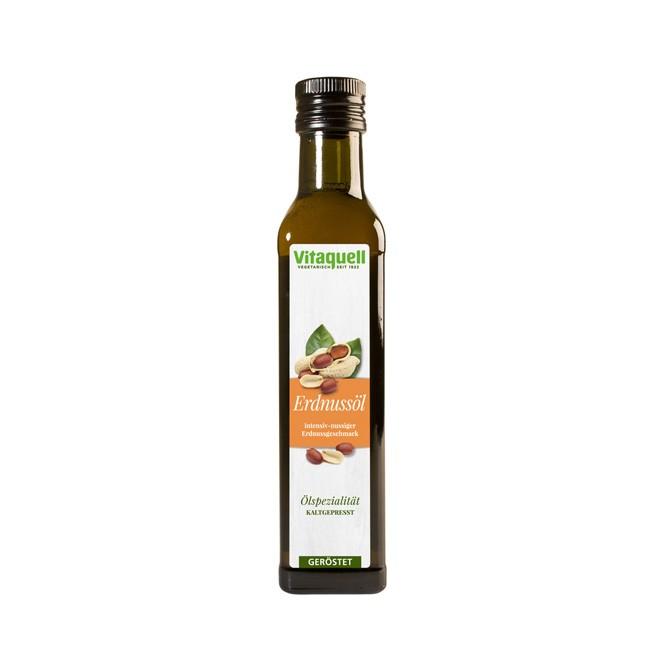geröstetes Erdnuss-Öl von Vitaquell (250ml)