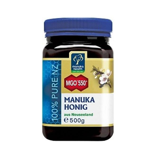 Manuka Health 500g Glas und 550 MGO-Gehalt