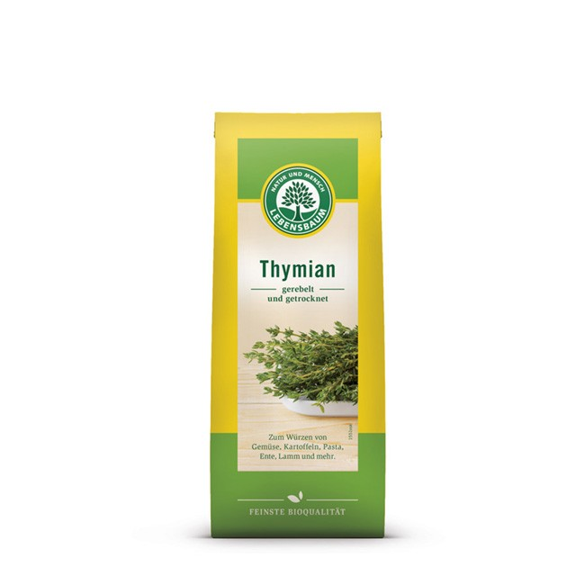 Thymian frisch gerebelt und getrocknet von Lebensbaum - hochwertige Bio Gewürze