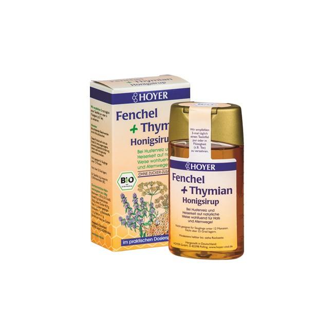 Hoyer Fenchel-Thymian Honigsirup in Bio-Qualität (250g)