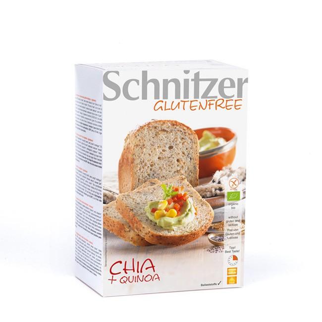 Glutenfreies Chia und Quinoa Bio Brot von Schnitzer (2x250g)