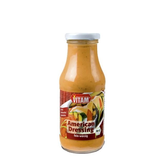 Cremiger Vitam Genuss mit American Dressing voll tomatig und vegan 230ml