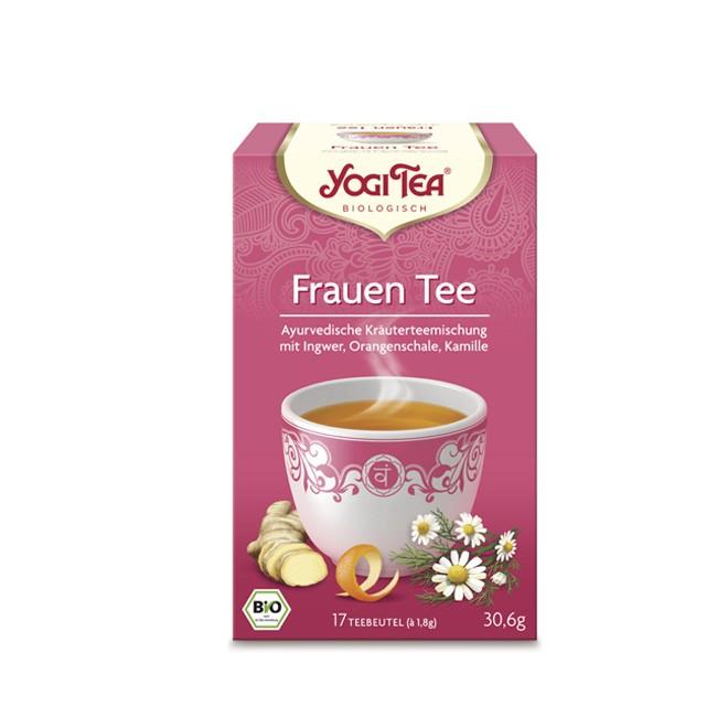 Vegan streng kontrollierter bio Tee mit Thymian und Lavendel von Yogi Tea mit der Sorte Frauen Tee