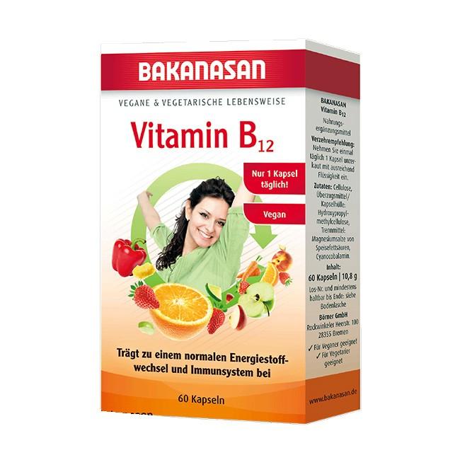 Vitamin B12 Kaspeln (vegan) von Bakanasan - 60 Stück