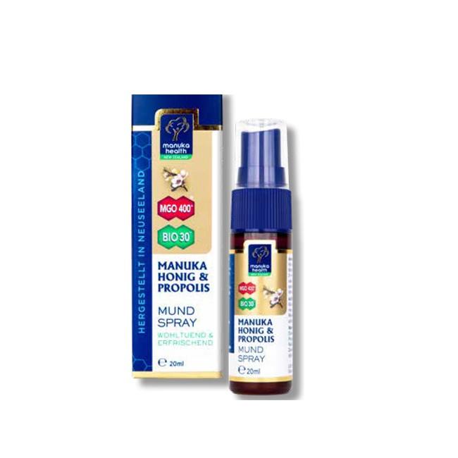 Pumpflasche (30ml) Rachenspray von Manuka Health
