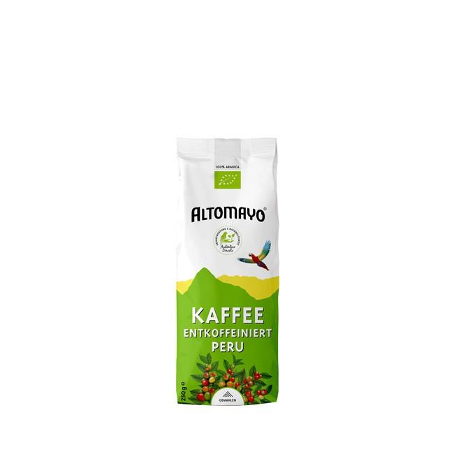 Altomayo BIO Kaffee 250g entkoffeiniert und von Bitterstoffen weitgehend reduziert -  gemahlen