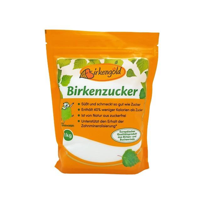 Birkengold Birkenzucker (1kg) kalorienarme Süße aus Birkenrinde