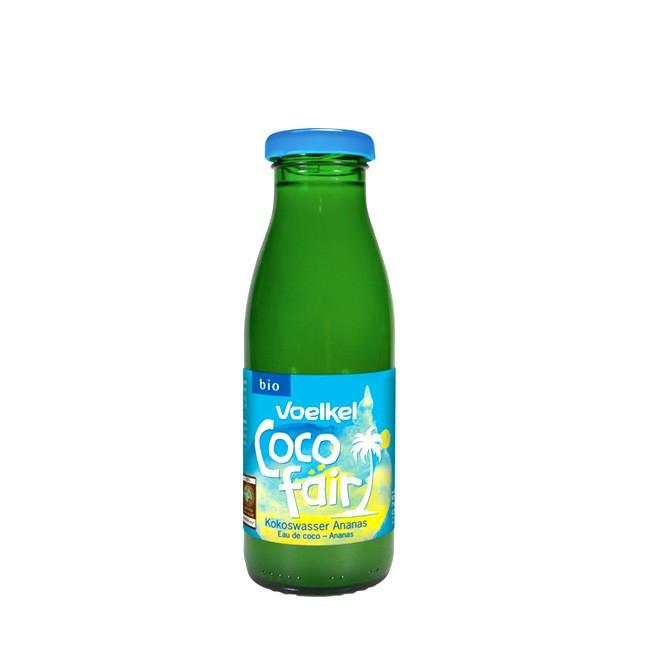 Bio Kokoswasser und 20% Ananassaft Coco fair von Voelkel