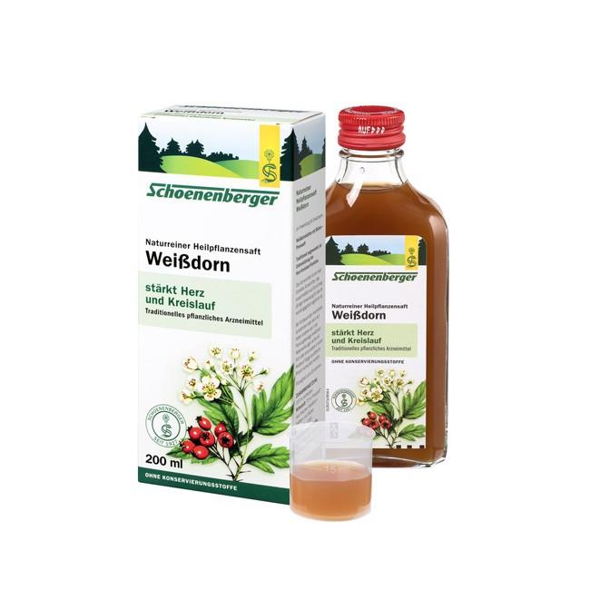 Mit dem Schoenenbeger Heilpflanzensaft Weißdorn in naturreiner bio Qualität eine verbesserte Durchblutung erreichen 200ml