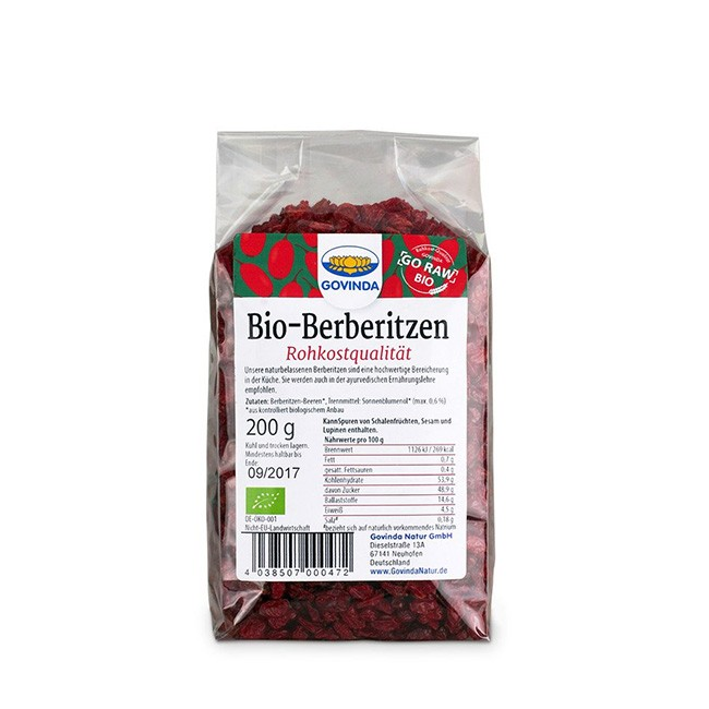 Govinda Bio Berberitzen Beeren getrocknet 200g ungeschwefelt