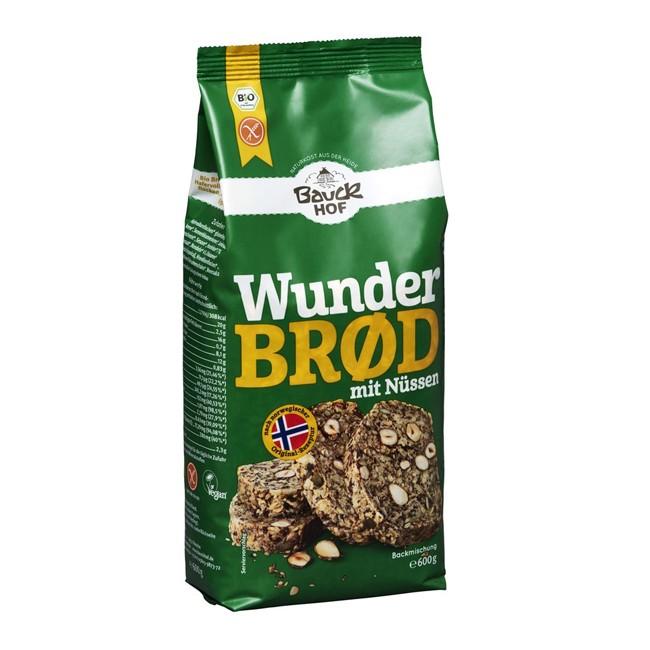 Bauckhof glutenfreies Wunderbrot Backmischung mit Nüssen bio 600g
