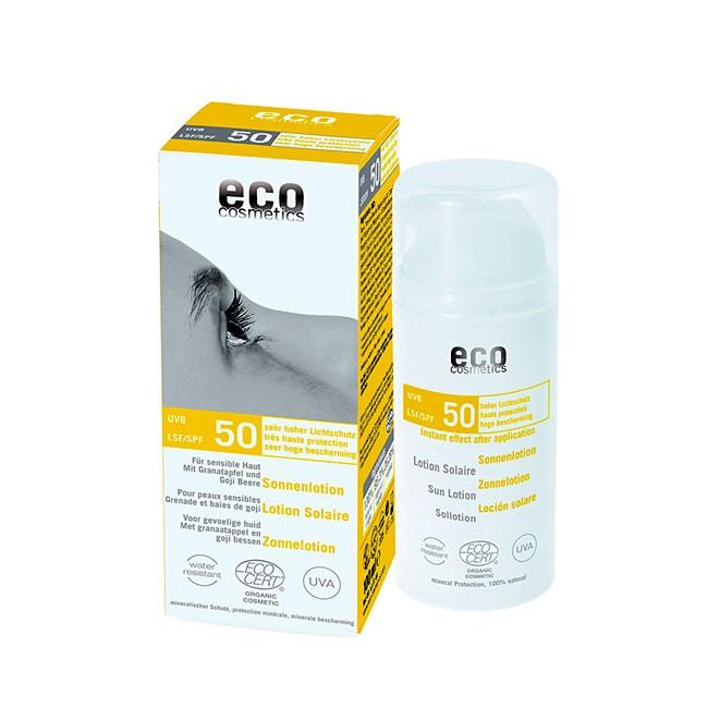 Eco Cosmetics Sonnenlotion LSF 50 für sensible Haut (100ml)