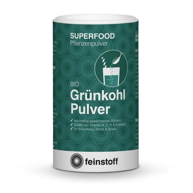 Feinstoff Bio Grünkohl (Kale) - Pulver (70g) für Ihren Green Smoothie