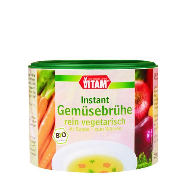 Vitam Gemüsebrühe Instant rein vegetarisch als Suppe & Würzen geeignet mit Hefe