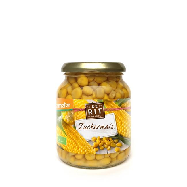 Zuckermais im Glas Demeter Qualität von De Rit (340g)