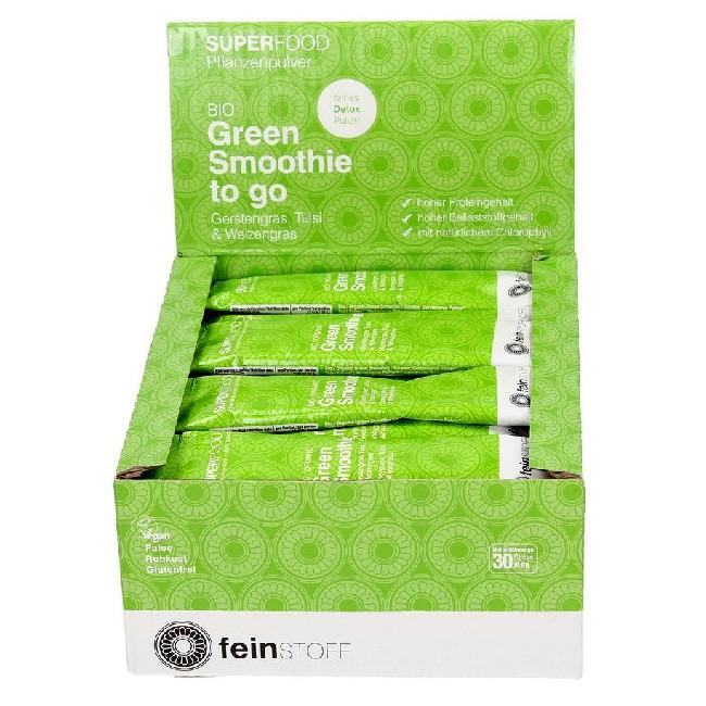 Bio Smoothiepulver to go 8g Tüte Green Smoothie von Feinstoff - Raw Food