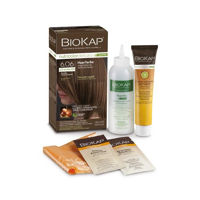 BioKap Nutricolor Rapid 6.06 Dunkles Aschblond
