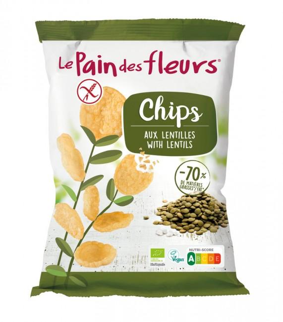 Blumenbrot : Chips Grüne Linsen, bio (50g)