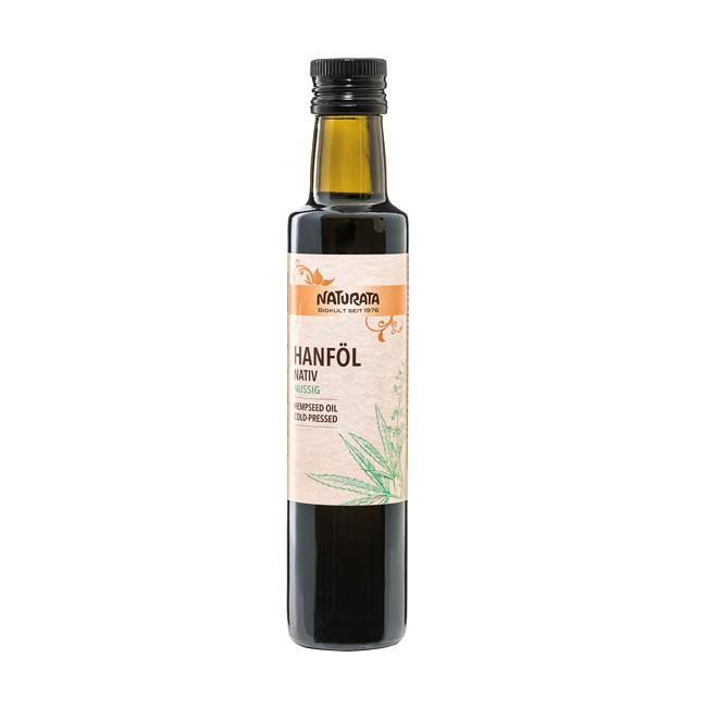 Naturata Hanföl bio 250ml - naturbelassen und reich an essentiellen Fetten