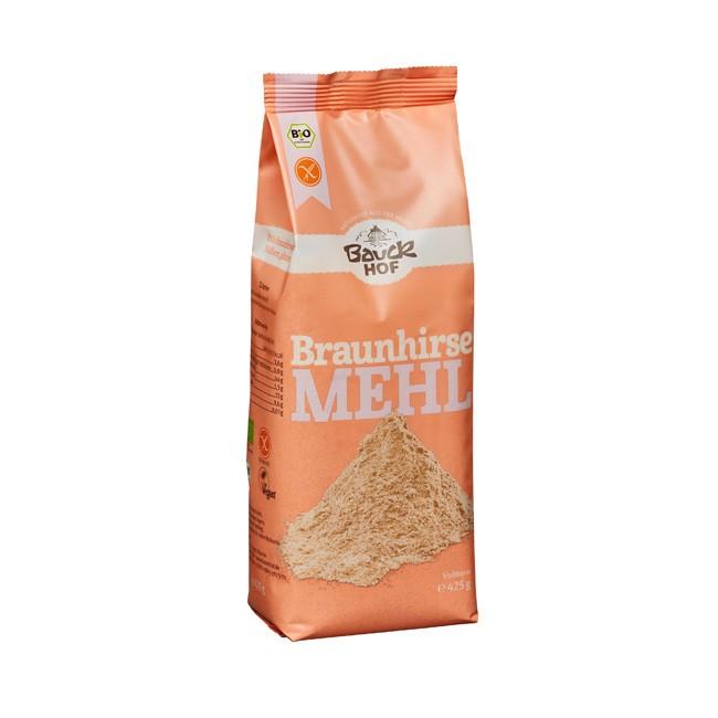 Bauckhof Braunhirsemehl alternative zu Weizenmehl gut für Gluten-Allergiker glutenfrei, Konservierungstoffe frei