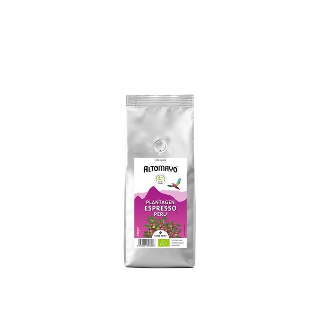 Altomayo Plantagen Espresso Bohne 250g mit Edelfruchtigem Geschmack