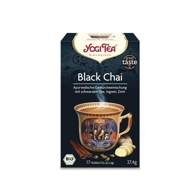 Black Chai bio Tee von Yogi Tea mit Ingwer  Zimt Rotbusch und schwarzem Tee