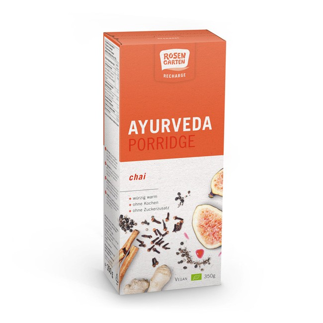 Rosengarten Ayurveda Porridge Recharge Chai, bio 350g