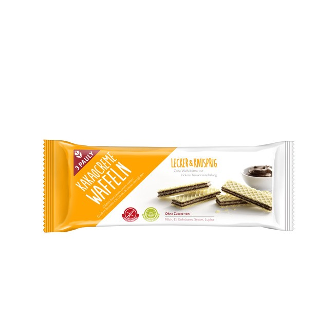 glutenfreie Kakao Creme Waffeln von 3 Pauly (125g)