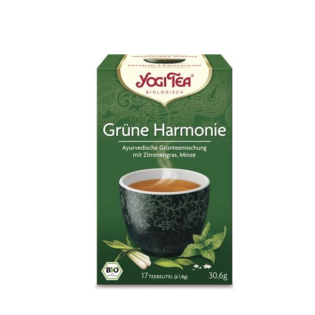 Erfrischt durch den Tag mit Grünem Tee und Kombucha im Bio Yogi Tea Grüne Harmonie Tee 17 Beutel