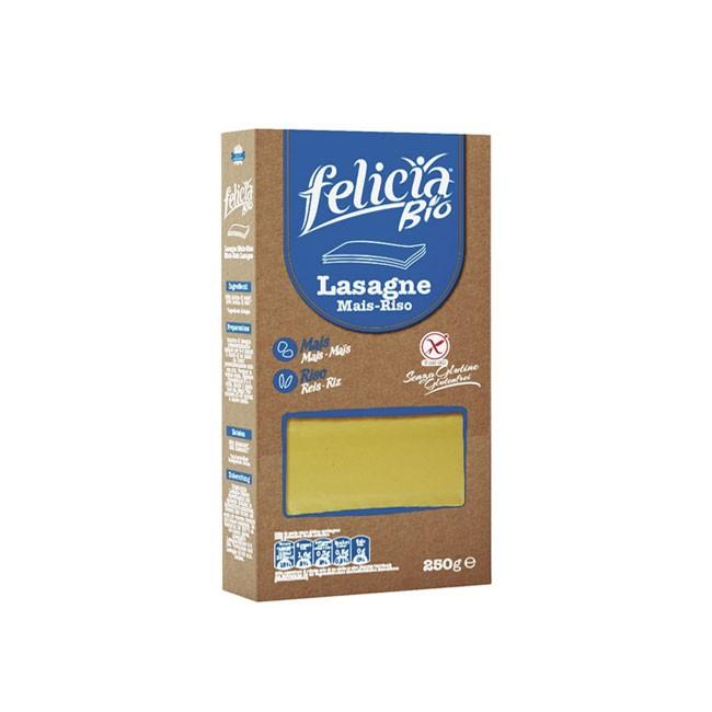 glutenfreie Lasagneblätter von Felicia Bio (250g) aus Mais und Reis