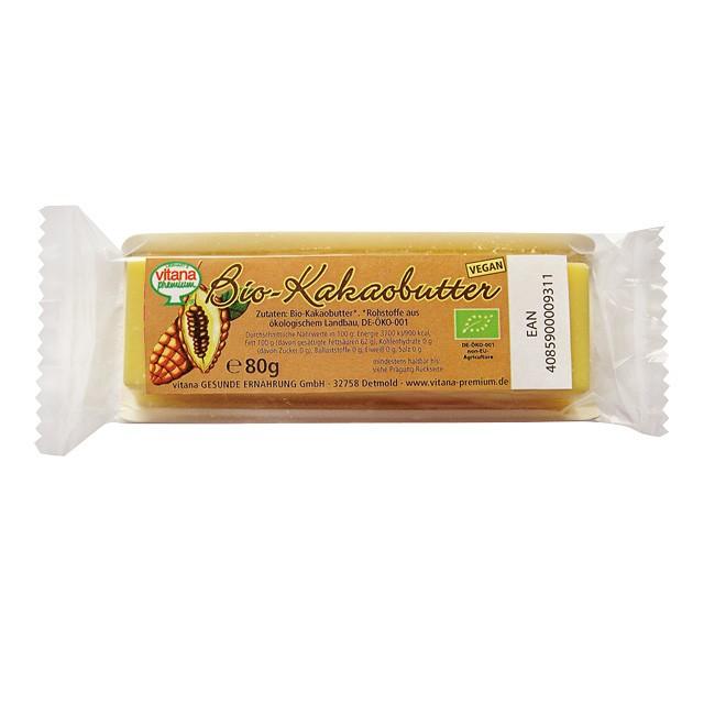 Kakaobutter Riegel in Bio-Qualität (80g)