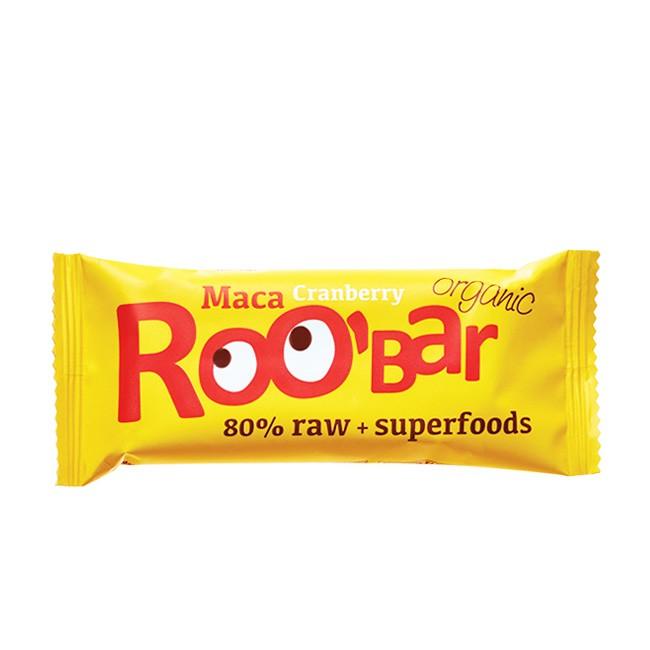 Superfood Maca und Cranberry Rohkostriegel von Roo'bar 50g Riegel