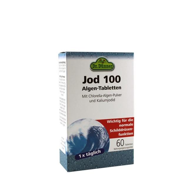 Dr. Dünner Jod 100 Chlorella Algen Tabletten 60 Stck