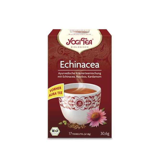 Yogi Tea vormals Aura jetzt Echinacea Tee aus biologischem Anbau und glutenfrei mit Rotbusch und Kardamom