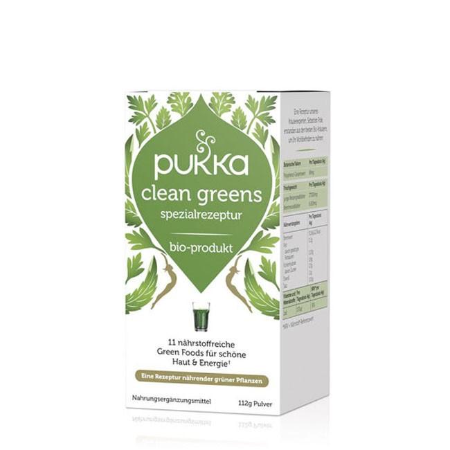 Pukka Clean Greens Pulver bio 112g